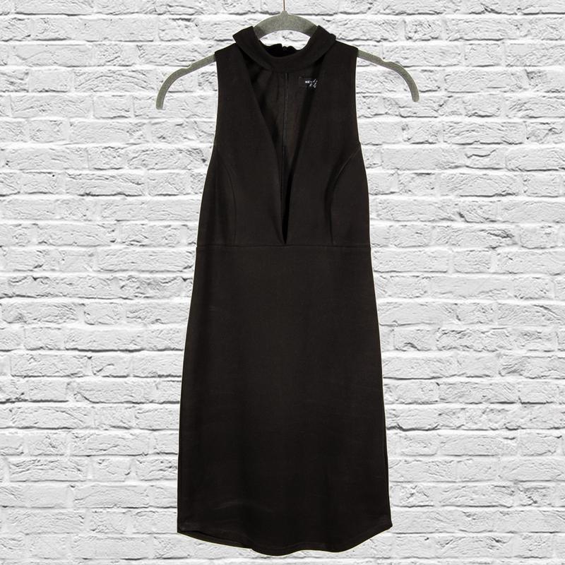 Черное платье коктейльное, нарядное платье короткое черное
