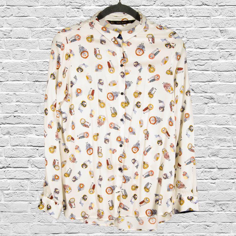 Белая рубашка с длинными рукавами, классическая рубашка блуза ...