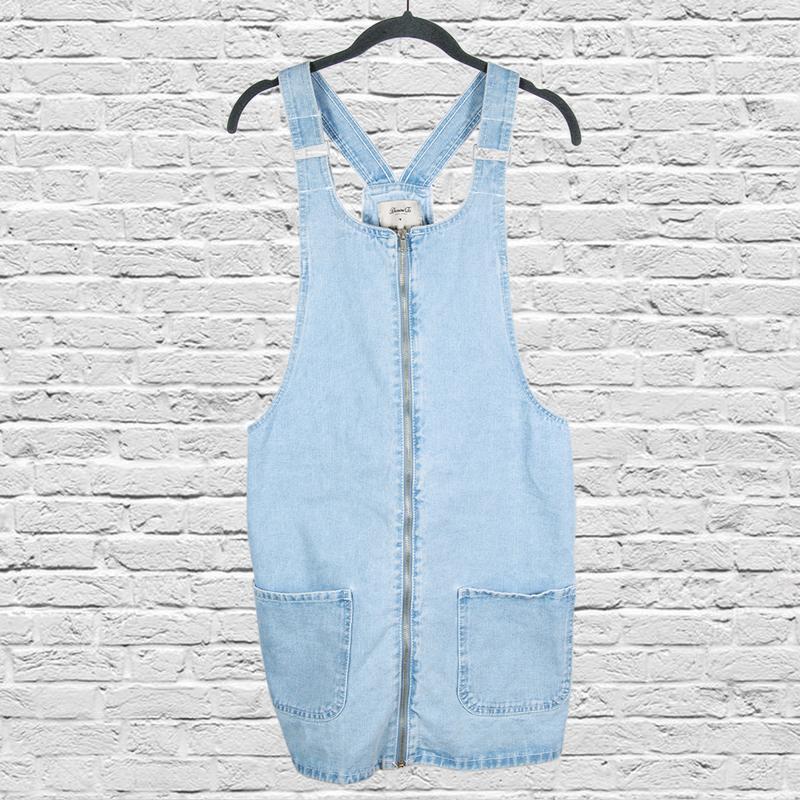 Голубой джинсовый сарафан, джинсовый комбинезон голубой