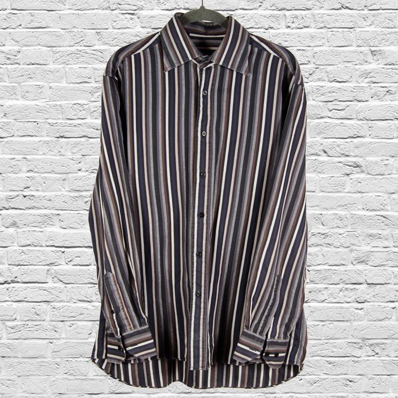 Оверсайз рубашка в полоску, свободная рубашка с длинным рукаво...