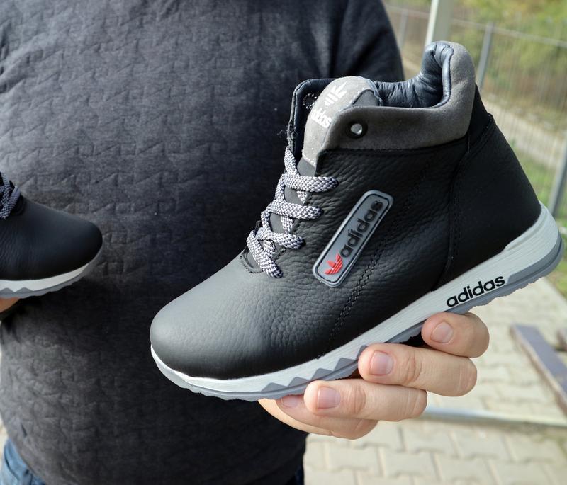 Детские зимние кожаные ботинки {топ качество}