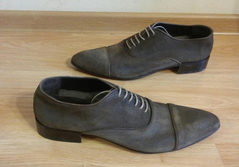 Мужские туфли Minelli натур нубук замш кожа р. 42