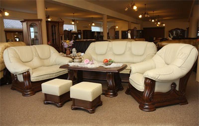 Новый кожаный диваны и кресла 3+2+1 Гризли, Польша Кожаная мебель