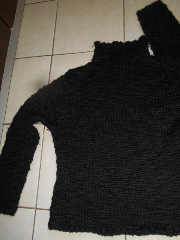 #i.n.c.#теплющий  черный свитер с шерстью #большой размер xl #