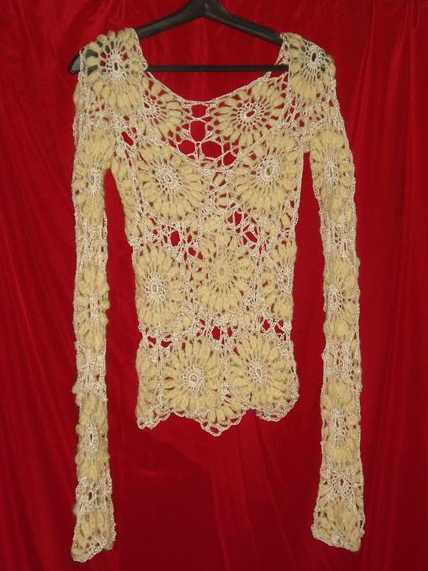 Кофта в стиле вязанка-сеточка для девочки