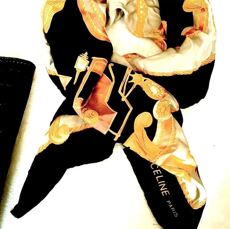 Брендовый винтажный платок celine paris  оригинал,италия