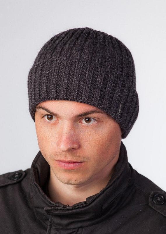 Вязаная классическая шапка