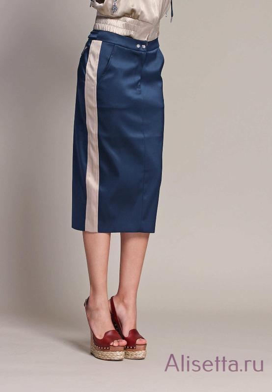 Распродажа! стильная  юбка базовая с лампасами