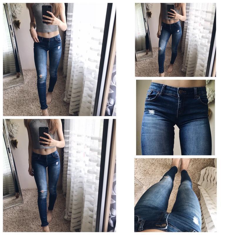 Джинсы синие джинсы / плотные