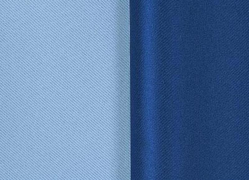 Шторы лён блэкаут. Цвет - синий - Фото 2