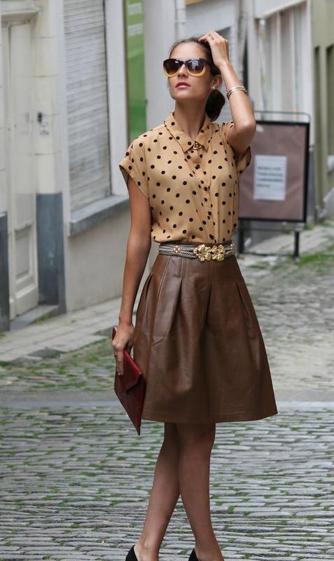Красивая юбка из натуральной ко
