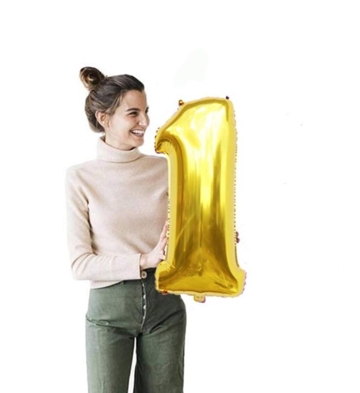 Воздушные шары цифры, надувные метровые цифры