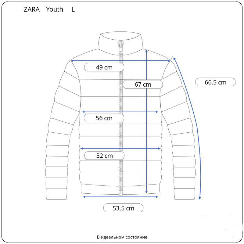 Мужская зимняя куртка Zara L на М 48 - 50 - Фото 6