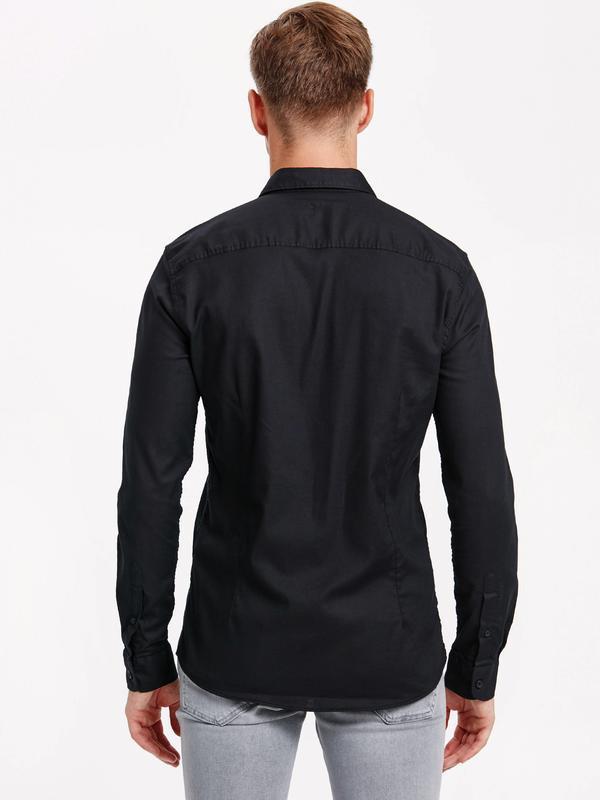 Черная мужская рубашка lc waikiki / лс вайкики на черных пугов... - Фото 3