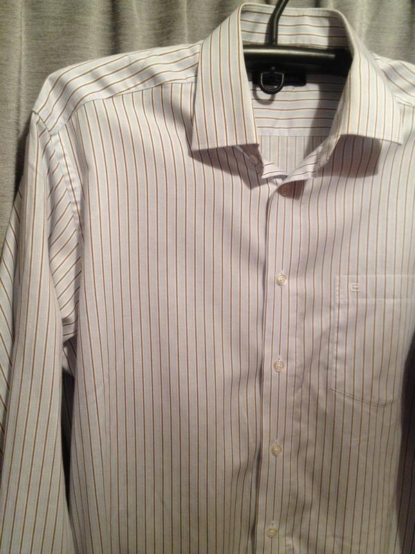 Оригинальная рубашка в полоску.