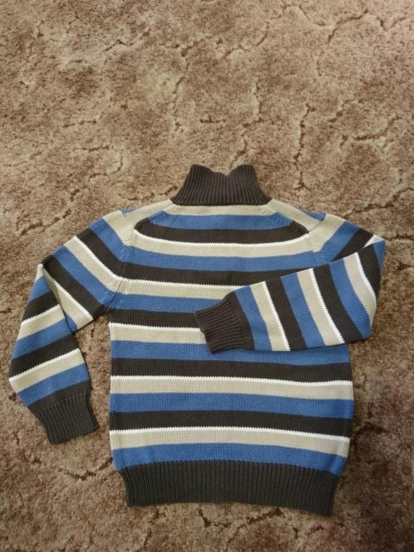 Свитер вязаный на мальчика 4-6 лет фирмы Topolino - Фото 2
