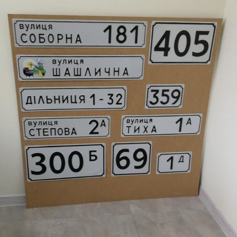 Адресные таблички (указатель улицы)