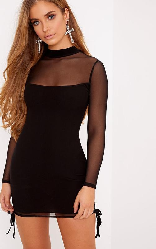 👑♥️final sale 2019 ♥️👑   мини платье с прозрачными вставками