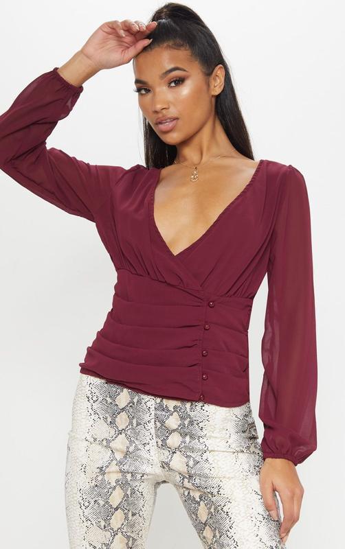 👑♥️final sale 2019 ♥️👑    шифоновая блуза на пуговицах