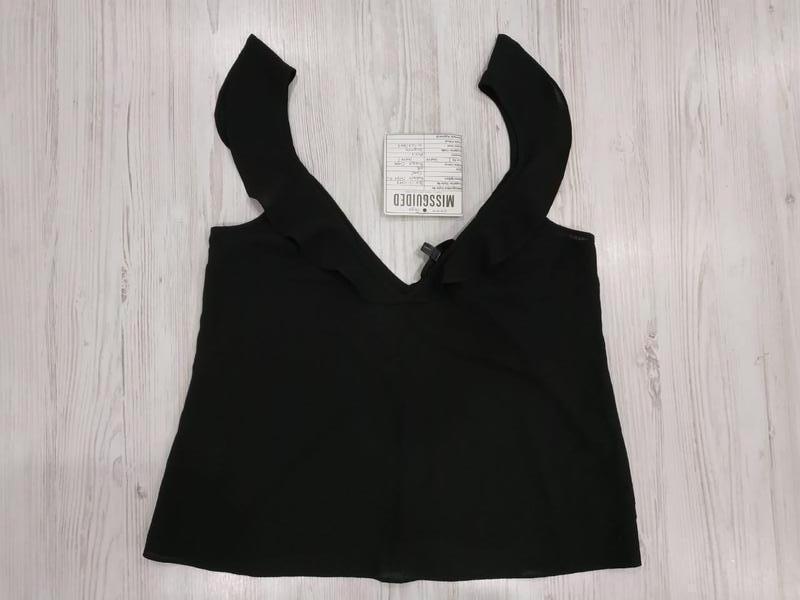 👑♥️final sale 2019 ♥️👑    креповая блуза с оборками на плечах