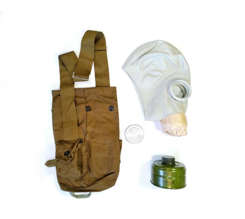Противогаз ГП-5, комплект: маска, сумка, фільтр, лінзи нп. НОВИЙ
