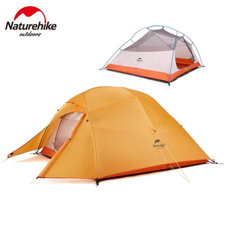 Трехместная палатка Naturehike Cloud UP 3 Orange 210T Polyester