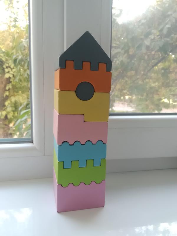 Развивающая пирамидка домик