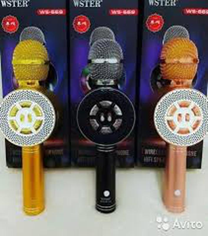 Караоке микрофон Wster WS-669 со встроеннымсо встроенным динамико - Фото 2