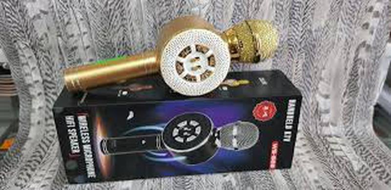 Караоке микрофон Wster WS-669 со встроеннымсо встроенным динамико - Фото 4