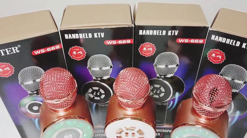 Караоке микрофон Wster WS-669 со встроеннымсо встроенным динамико - Фото 5