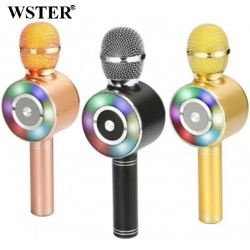 Караоке микрофон Wster WS-669 со встроеннымсо встроенным динамико - Фото 12