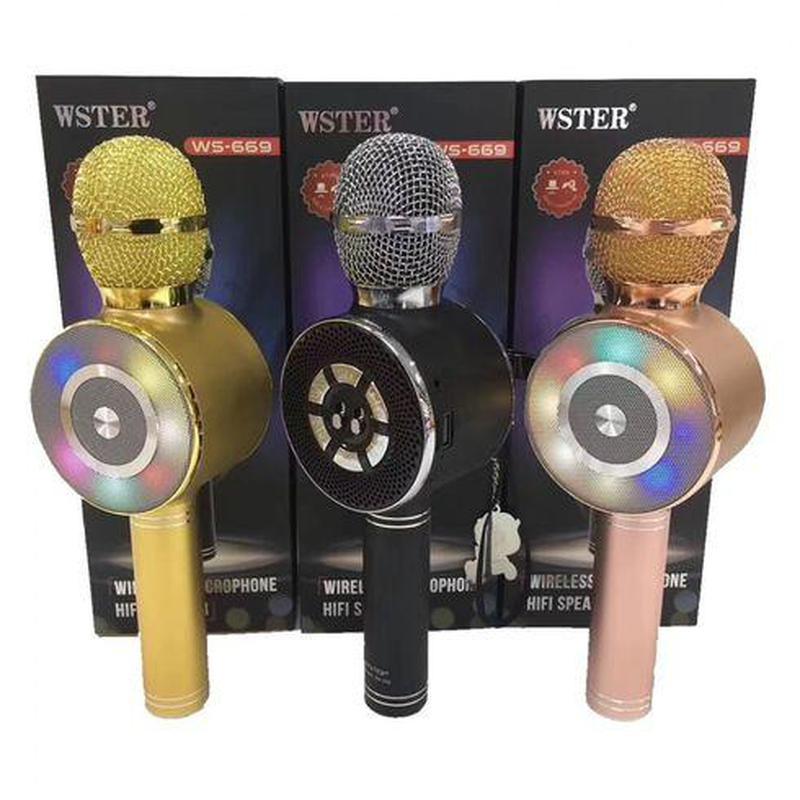 Караоке микрофон Wster WS-669 со встроеннымсо встроенным динамико - Фото 13
