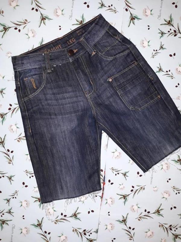 Джинсовые шорты с не обработанным низом на мальчика 6 - 7 лет