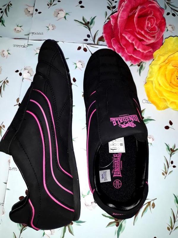 Акция 1+1=3 черные кроссовки с натуральной кожи lonsdale (ориг... - Фото 3