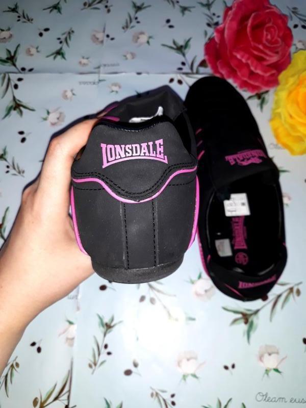 Акция 1+1=3 черные кроссовки с натуральной кожи lonsdale (ориг... - Фото 4