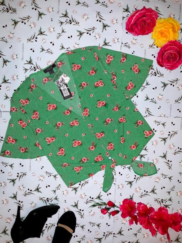 Стильная блуза на завязках primark, размер 52, новая с биркой