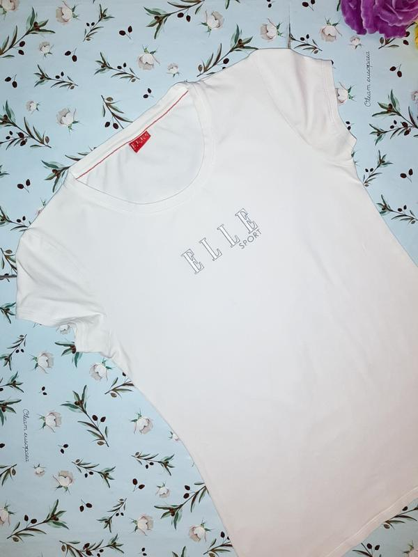 Бесплатная доставка! стильная базовая белая футболка elle spor... - Фото 2