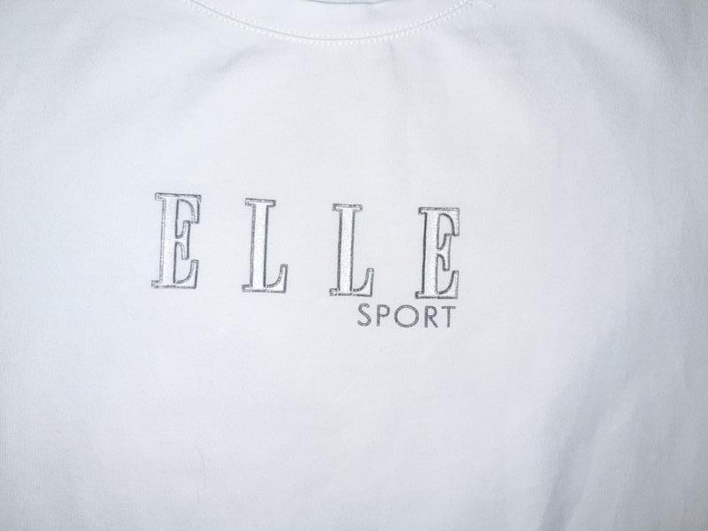 Бесплатная доставка! стильная базовая белая футболка elle spor... - Фото 3