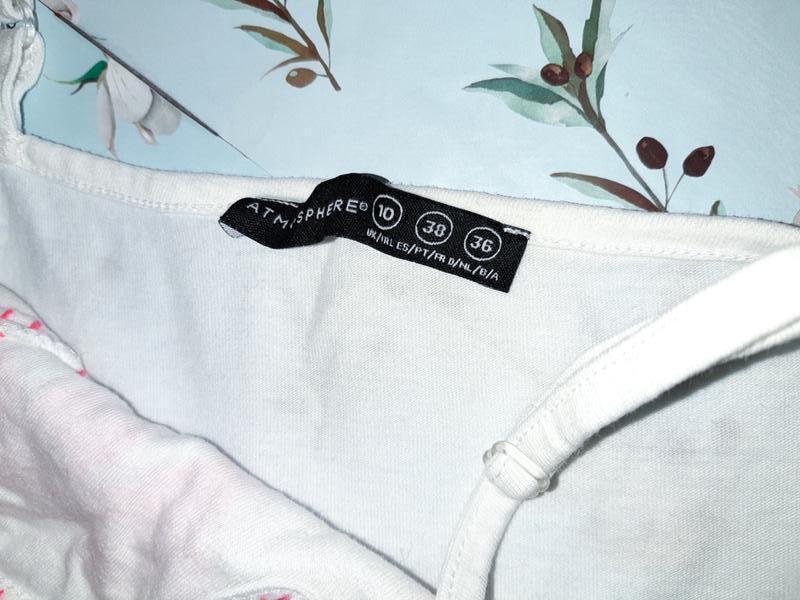 Бесплатная доставка!  стильный белый топ блуза вышиванка atmos... - Фото 2
