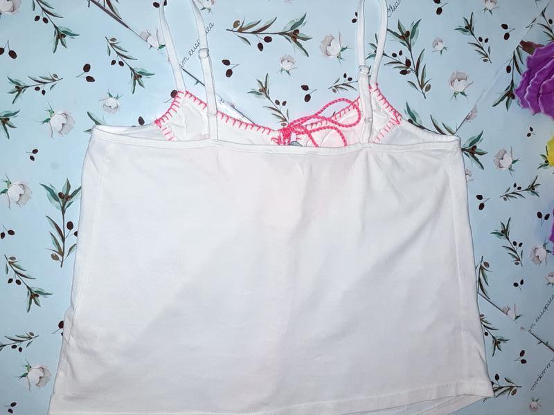 Бесплатная доставка!  стильный белый топ блуза вышиванка atmos... - Фото 5