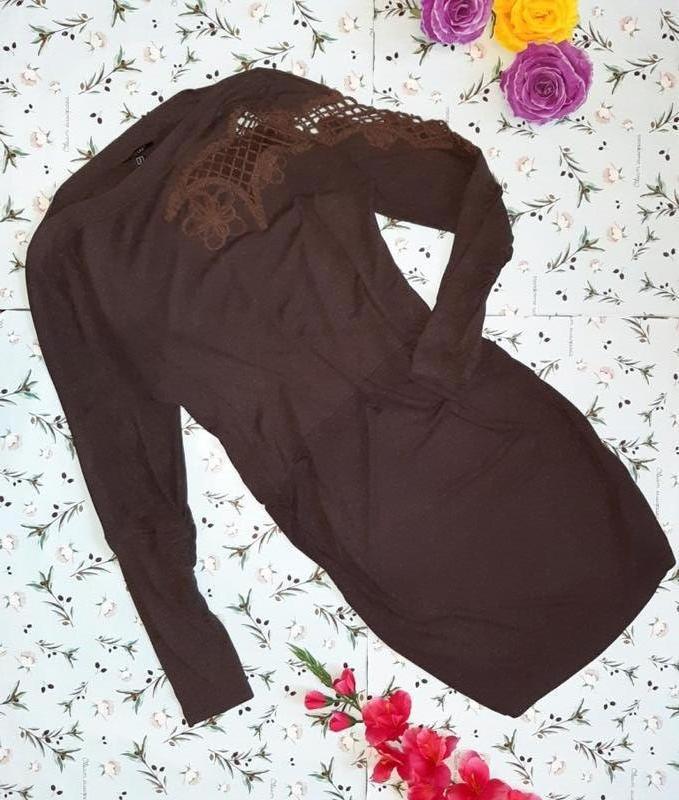 Стильное трикотажное платье миди, размер 46 - 48