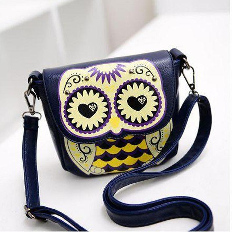 Женская интересная стильная сумочка сова сумка каваи кроссбоди
