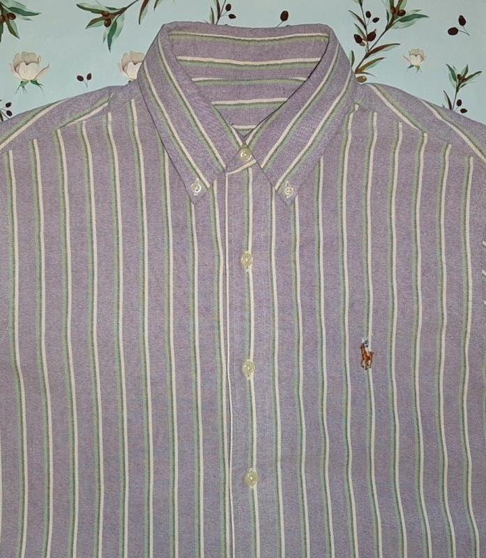 Крутая фирменная плотная рубашка ralph lauren, размер 44 - 46