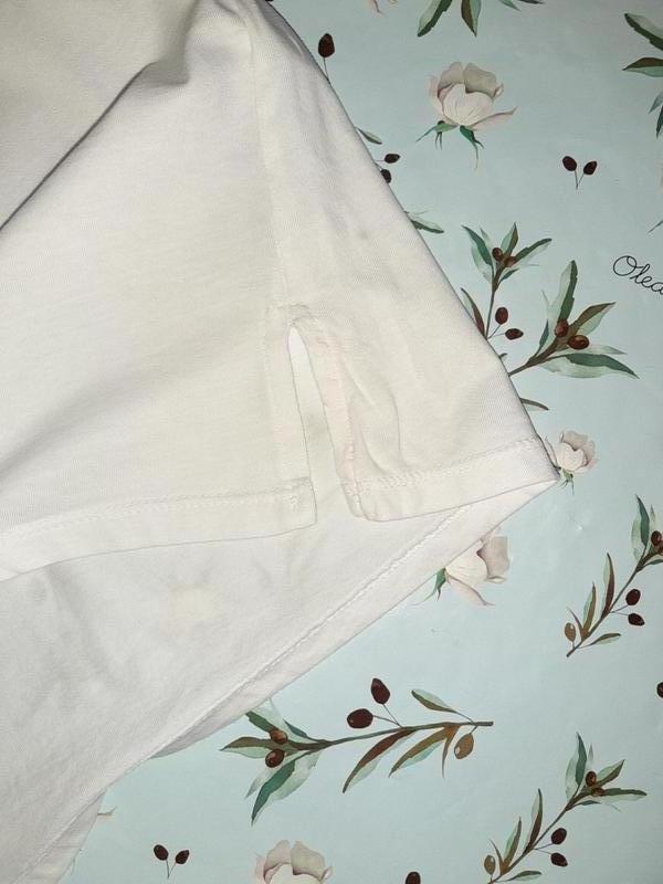 Бесплатная доставка! фирменная белая футболка оверсайз с микки... - Фото 9