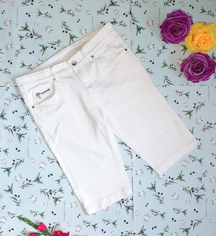 Фирменные белые джинсовые шорты бриджи h&m, размер 44 - 46
