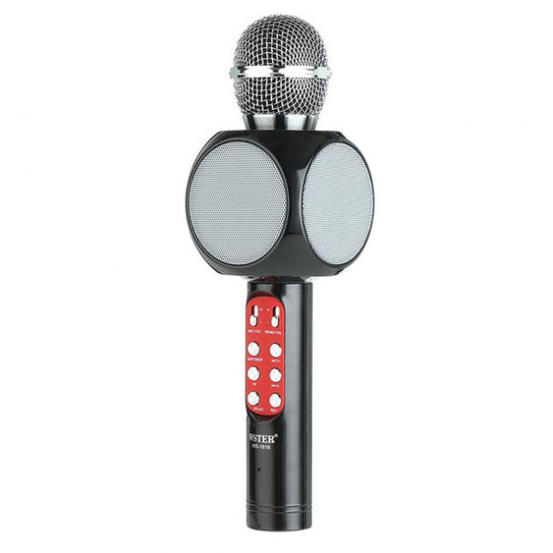 Беспроводной микрофон караоке bluetooth WSTER WS-1816. Цвет: черн - Фото 2