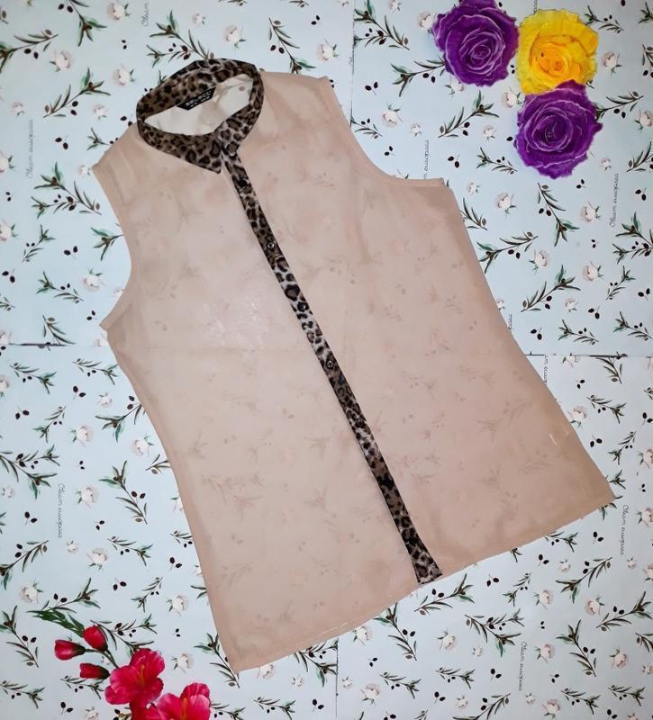 Стильная блуза с леопардовым принтом, размер 48 - 50