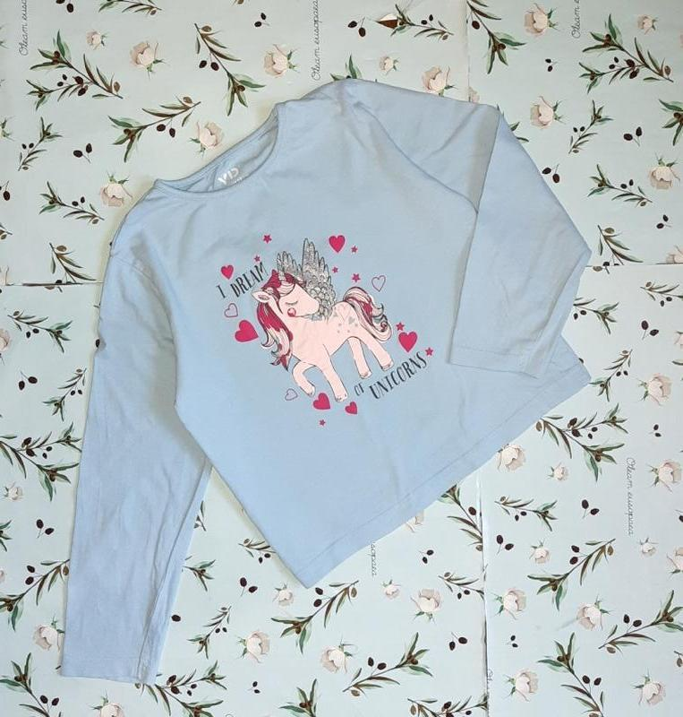 Нежно-голубой голифик свитер yd на девочку 7-8 лет