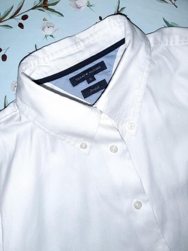 Бесплатная доставка!  базовая белая рубашка блуза tommy hilfig... - Фото 2