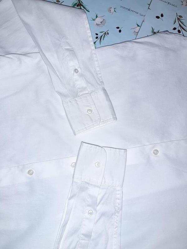 Бесплатная доставка!  базовая белая рубашка блуза tommy hilfig... - Фото 4